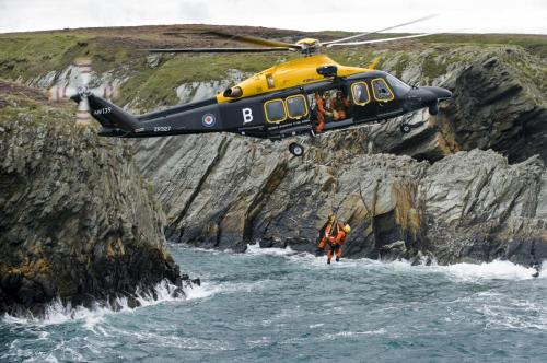 AW139 Helicopter on Search and Rescue Exercise